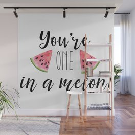 One in a Melon Wall Mural