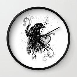 Black Crow Darling ll Wall Clock