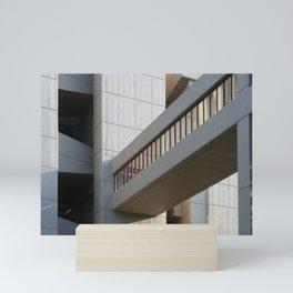brutalist bridge - roger stevens building leeds Mini Art Print