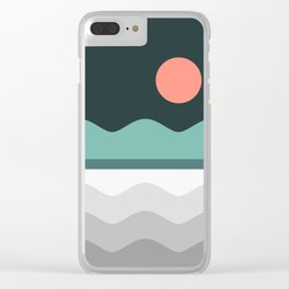 Abstract Landscape 06 Clear iPhone Case