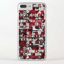 Paradox Network (P/D3 Glitch Collage Studies) Clear iPhone Case