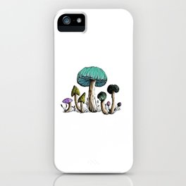 Watercolor, Pen & Ink Mushroom Collection iPhone Case