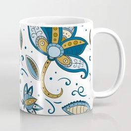 Watercolor Flower Pattern Art Design Coffee Mug