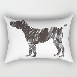 black dog Rectangular Pillow