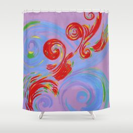 Painted Music Shower Curtain