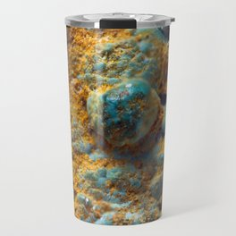 Bubbly Turquoise with Rusty Dust Travel Mug