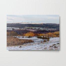 Consett frozen pond Metal Print