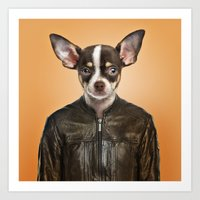 chihuahua Art Prints featuring Chihuahua  by Life on White Creative
