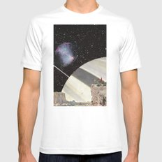 Space Cowboys White Mens Fitted Tee MEDIUM