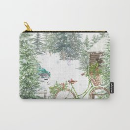 Snowy Winter Carry-All Pouch