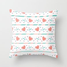 minty heart lightning Throw Pillow