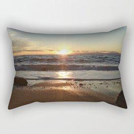 Sunset on The Beach In Torre Delle Stelle Rectangular Pillow