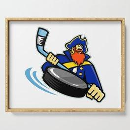 Swashbuckler Ice Hockey Sports Mascot Serving Tray