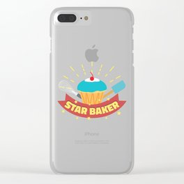 Star Baker I Funny Baking Cupcake Muffin  design Clear iPhone Case