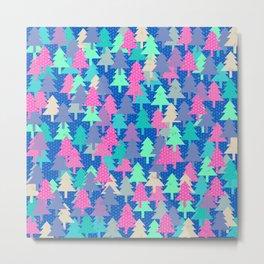 Colorful fir pattern II Metal Print