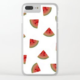 Watermelon Explosion Clear iPhone Case