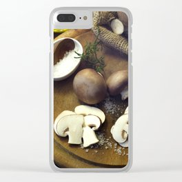 Fresh chili  and mushrooms fine Clear iPhone Case