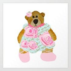 Rose Bear Art Print