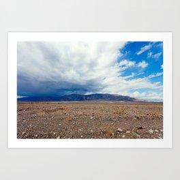 Rain Cometh in Death Valley Art Print