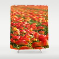 duvet cover Shower Curtains featuring Duvet Cover 406D by Michael Mackin