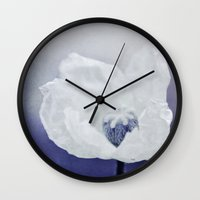 indigo Wall Clocks featuring INDIGO by Iris Lehnhardt