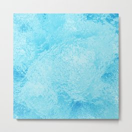 An abstract high quality texture of ice. A raster illustration. Metal Print