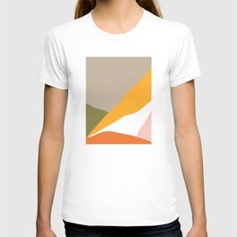 Minimal Landscape Collage 3.1 Orange & Green  T-shirt