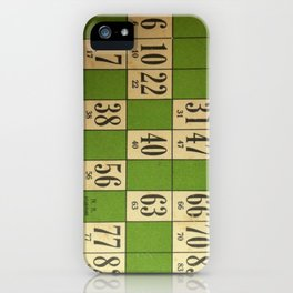 FREnch vintage loto game iPhone Case