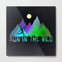 Run In The Wild Metal Print
