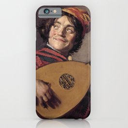 Frans Hals - Luitspelende Nar - Jester with a Lute - Renaissance Fine Art Retro Vintage Oil Painting iPhone Case