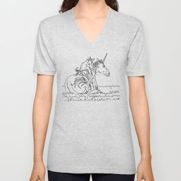 Mare and Foal Mythos Unisex V-Neck