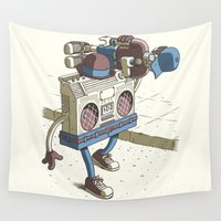 human Wall Tapestries featuring Human Boombox by Javier Ramos