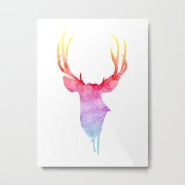 Neonimals: Deer Metal Print
