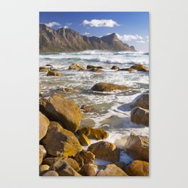 Rocky beach at Kogel Bay in South Africa Canvas Print