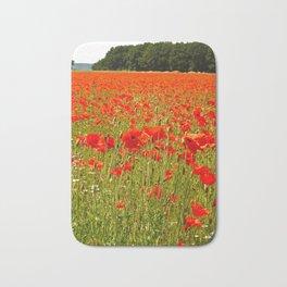 Sea of Normandy Poppies Bath Mat