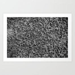 freezing sandy texture Art Print