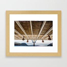 new ceiling in the living room Framed Art Print