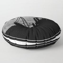Silent boat. Floor Pillow