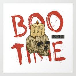 Halloween Scary Boo  Pumpkin Time Art Print