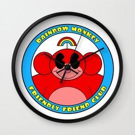 Rainbow Monkey Friendly Friend Club! Wall Clock