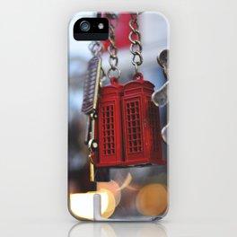 British phone booth keychain iPhone Case