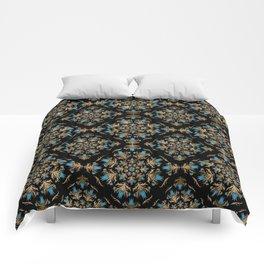 Turkish tulip - Ottoman tile pattern 14 Comforters