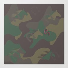 Camouflage Year of Horse Canvas Print