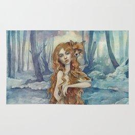 Winter fox Rug