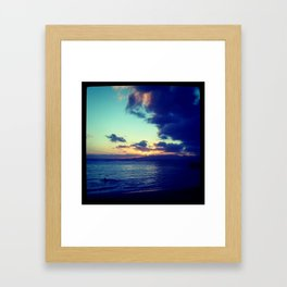 Orange Hawaiian Nights Framed Art Print