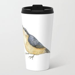 Nuthatch Bird Illustration Travel Mug
