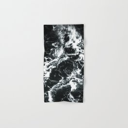 Waves - Black and White Abstract Hand & Bath Towel