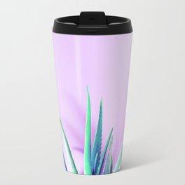 Aloe Vera Succulent with Pink Background Travel Mug