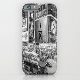 Times Square II (B&W widescreen) iPhone Case