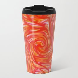 Red Swirls Metal Travel Mug